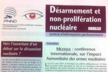L'information sur le nucléaire au Parlement