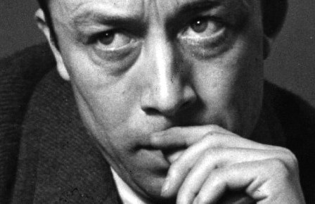 French writer Albert Camus (1913 - 1960) on a visit to London. Original Publication: Picture Post  6297 - Camus The Post Existentialist - unpub. Original Publication: People Disc  - HC0237   (Photo by Kurt Hutton/Getty Images)