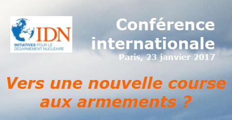 Conférence internationale : Vers une nouvelle course aux armements ?
