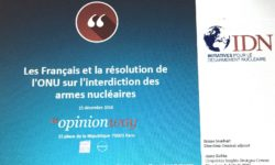 Les Français et la résolution de l'ONU sur l'interdiction des armes nucléaires