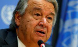 """António Guteres :  """"J'appelle aujourd'hui à un cessez-le-feu immédiat, partout dans le monde"""""""