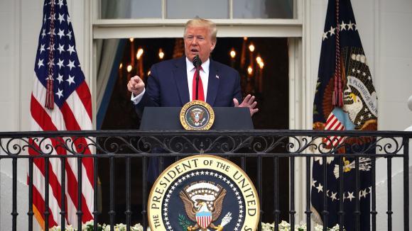 Le président américain Donald Trump, le 22 mai 2020 à Washington. (MANDEL NGAN AFP)
